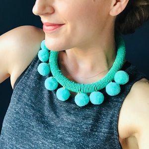 Pom Pom Turquoise Necklace!